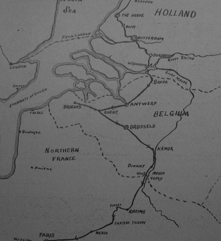 Κάτω χώρες, Βέλγιο , Γαλλια, χάρτηςεποχής