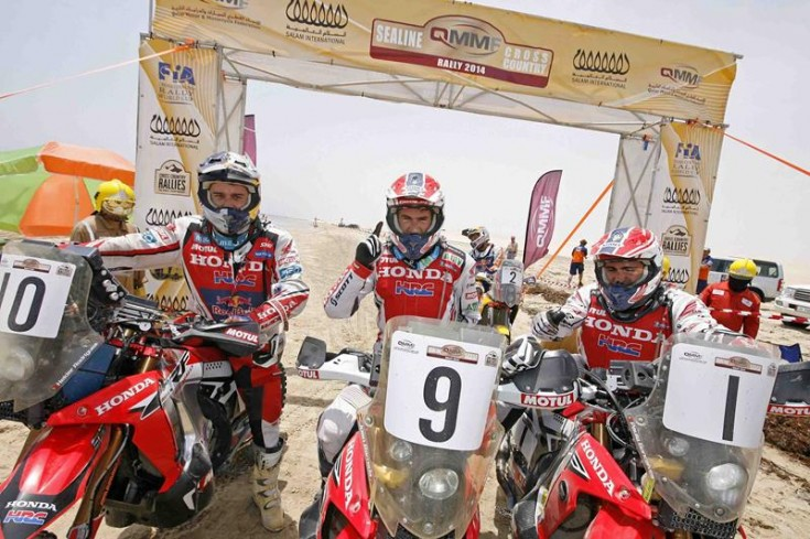 HRC Honda team rally