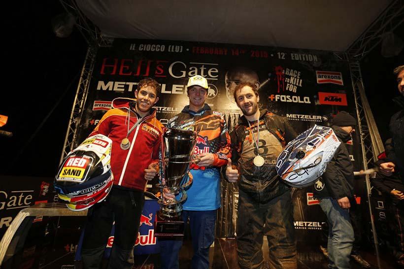 Jonny Walker, Mario Roman και Lars Enöckl έκαναν το βάθρο KTM στο Hell´s Gate Hard Enduro 2015