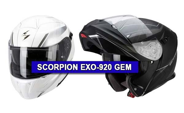 scorpion exo 920 gem black mat silver pearl white. Black Bedroom Furniture Sets. Home Design Ideas