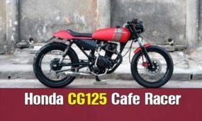 Honda CG125 Cafe Racer απο τον Carlos Costa