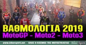 ΒΑΘΜΟΛΟΓΙΑ MotoGP 2019