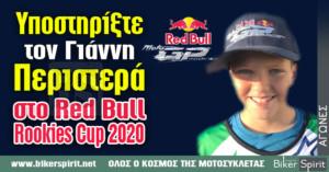 Υποστηρίξτε τον Γιάννη Περιστερά στο Red Bull Rookies Cup
