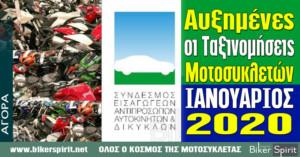 Συνεχίζει η άνοδος στην αγορά μοτοσυκλέτας και το 2020 – Αυξημένες οι Ταξινομήσεις και τον Ιανουάριο 2020