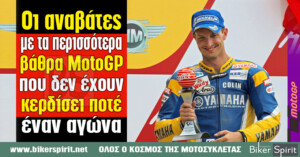 Οι αναβάτες με τα περισσότερα βάθρα MotoGP που δεν έχουν κερδίσει ποτέ έναν αγώνα