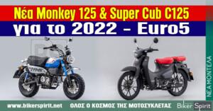 Νέα Honda Monkey 125 και Super Cub C125 για το 2022 – εντυπωσιακά και Euro5 – Mega Photo Gallery