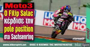 Moto3: Ο Filip Salac κέρδισε την pole position στο Sachsenring – Χρόνοι – Αποτελέσματα